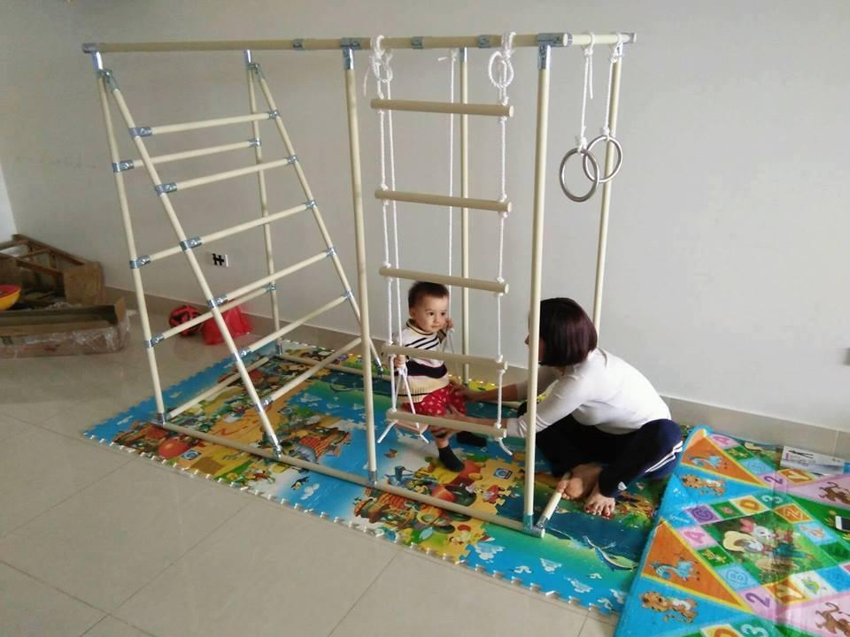 Xà đu đa năng hình chữ nhật cho trẻ