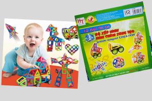 Bộ xếp hình nam châm sáng tạo cho bé